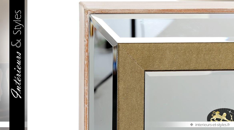 Meuble tv design argent et or fa ade en miroirs int rieurs styles - Meuble tv encadrement ...