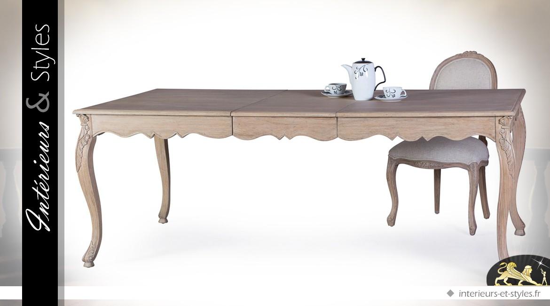 Table De Salle à Manger Style Louis XV Avec Rallonge Centrale