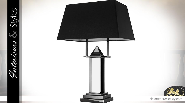 Lampe design obélisque de cristal 74 cm