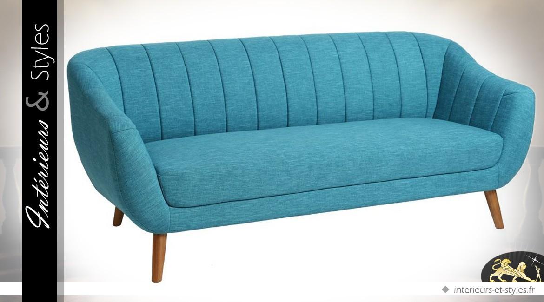 canap de style scandinave en tissu coloris bleu tiffany int rieurs styles. Black Bedroom Furniture Sets. Home Design Ideas