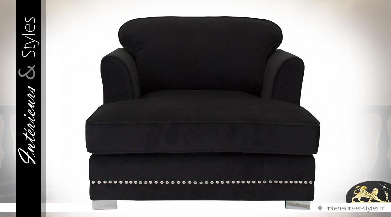 grand fauteuil moderne en velours bistre capitonn int rieurs styles. Black Bedroom Furniture Sets. Home Design Ideas