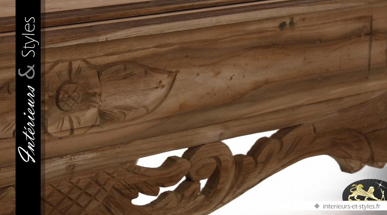 Table basse exotique en teck massif 160 x 90