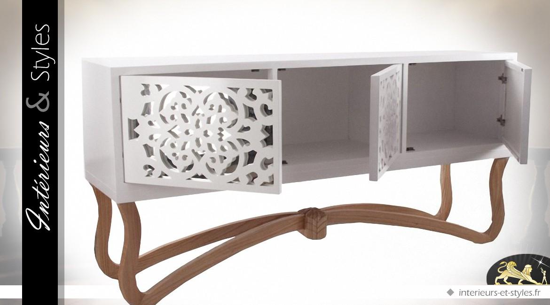 console design bois affordable console design en bois massif blanc duacacia industriel cm with. Black Bedroom Furniture Sets. Home Design Ideas