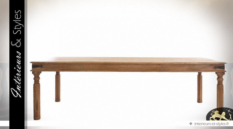 grande table rustique salle manger acacia massif 240 cm. Black Bedroom Furniture Sets. Home Design Ideas