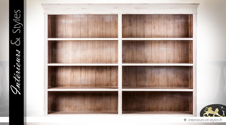 Biblioth Que De Style Rustique Patine Blanc Antique Int Rieurs Styles