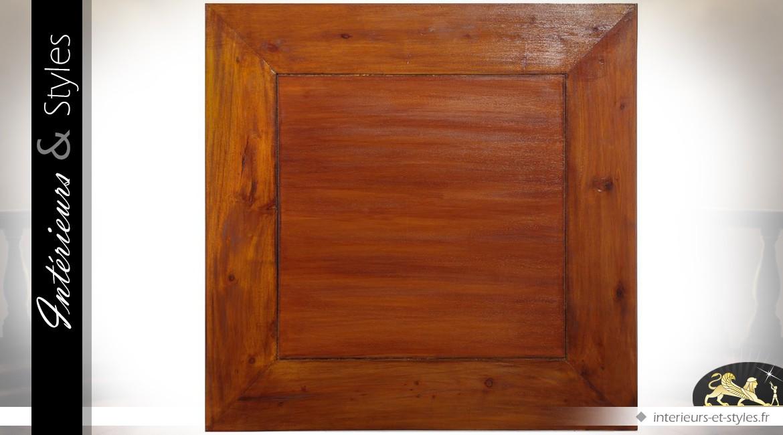 Table basse carrée de style oriental finition coloris acajou