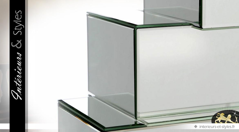 Console design forme abstraite en miroirs
