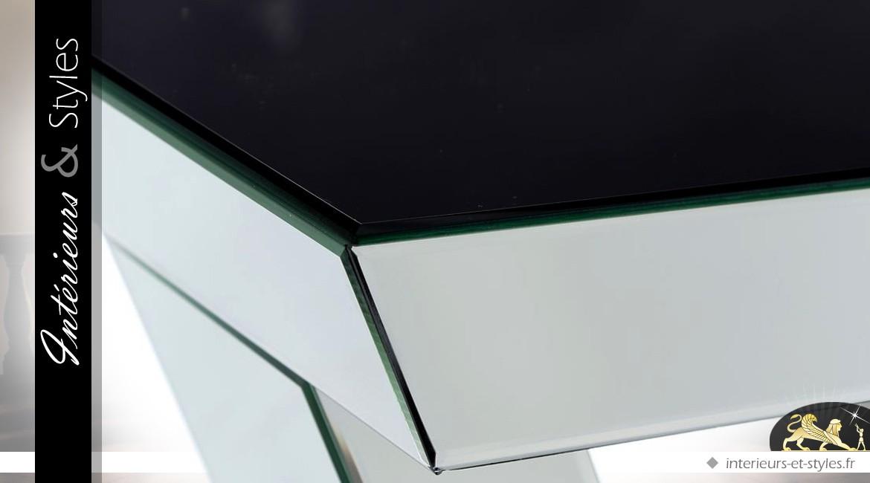 Console design en V habillage miroirs biseautés