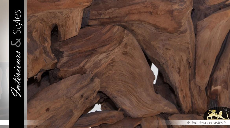 Console en teck massif style bois flotté