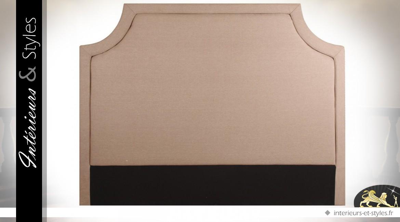 t te de lit en 160 habillage tissu coloris lin cru int rieurs styles. Black Bedroom Furniture Sets. Home Design Ideas