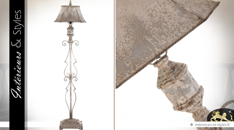 Lampadaire rétro et brocante en métal 165 cm