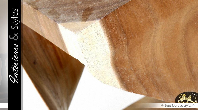Bout de canapé en acacia massif forme design