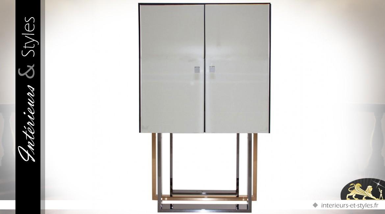 Buffet Design Meuble Bar En Verre Et Metal Interieurs Styles