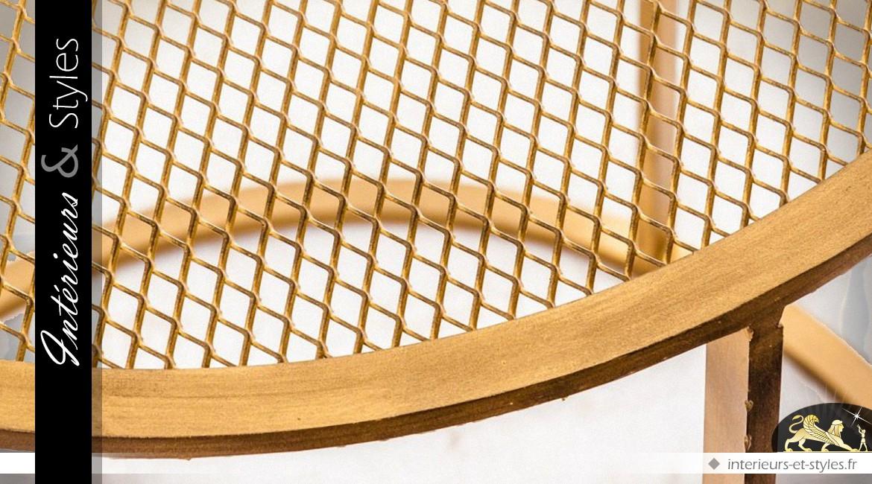Bout de canapé rond design en métal doré Ø 50 cm