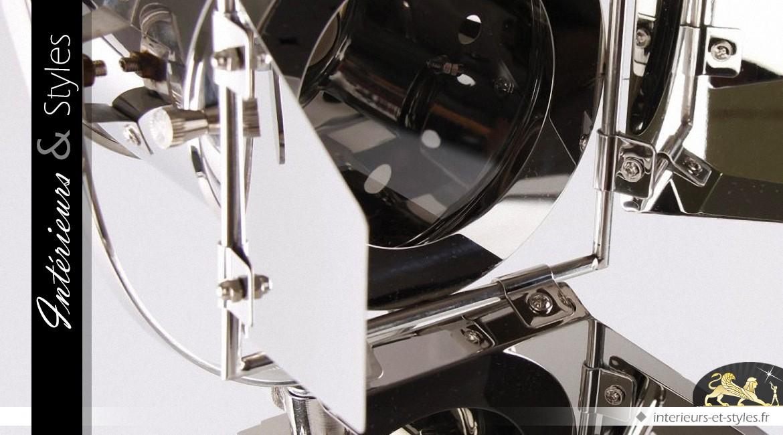 Lampe de table projecteur de cinéma chromé 80 cm