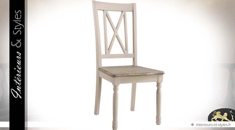 chaise blanche de style anglais cottage int rieurs styles. Black Bedroom Furniture Sets. Home Design Ideas