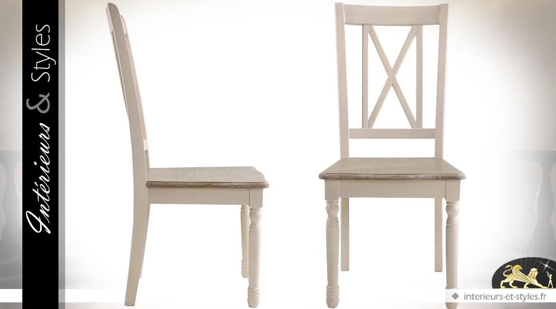 Chaise Blanche De Style Anglais Cottage Interieurs Styles