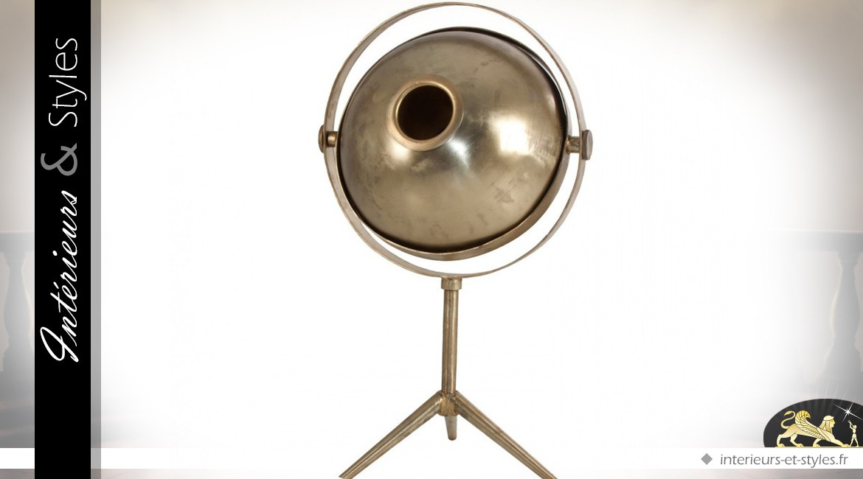 Lampe de style rétro en laiton doré et vieilli 64 cm