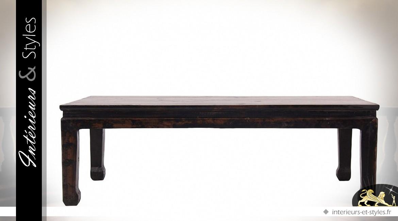 Table basse noire design en orme