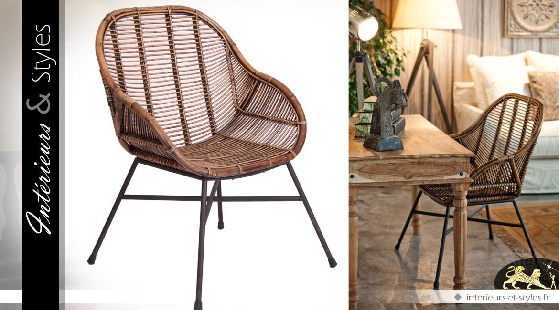 Style Fauteuil ExotiqueIntérieurs Siège Design Baquet Rotin Et 8wP0OknX