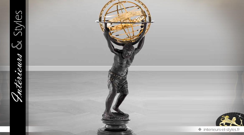 Statue d'Atlas portant la voûte céleste 94 cm