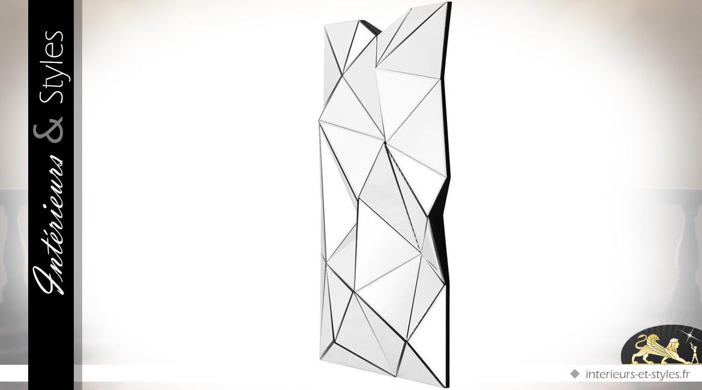 Miroir décoratif multifacettes en relief 120 cm