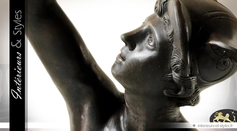 Statue de Mercure finition bronze antique 201 cm