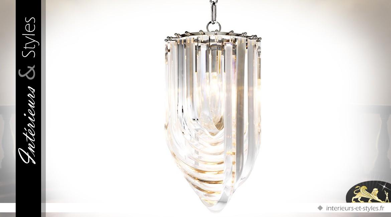 Suspension design cristalline style Murano 50 cm