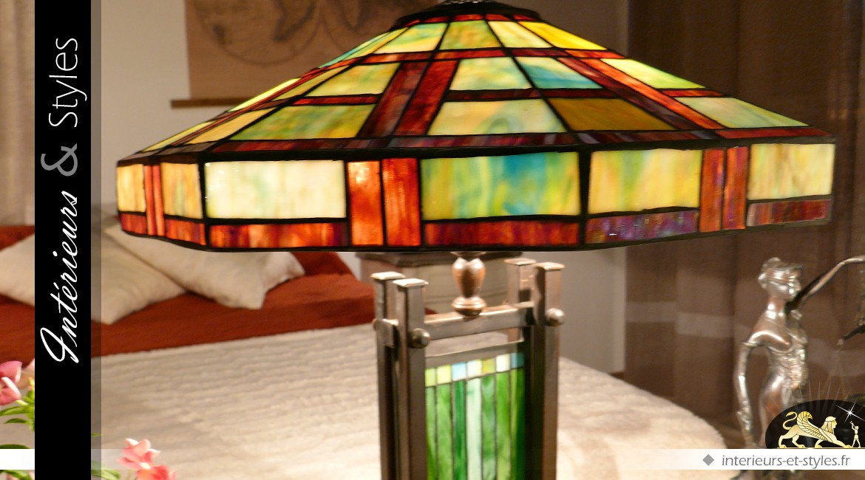 Grande lampe Tiffany : Hô Chi Minh-Ville Ø 58 cm