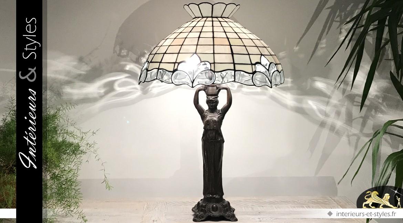 Lampe Tiffany : les diamants du Nil Ø 54 cm