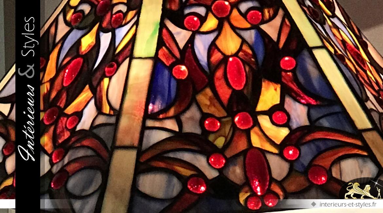 Lampe de prestige Tiffany : Nymphe des cieux célestes