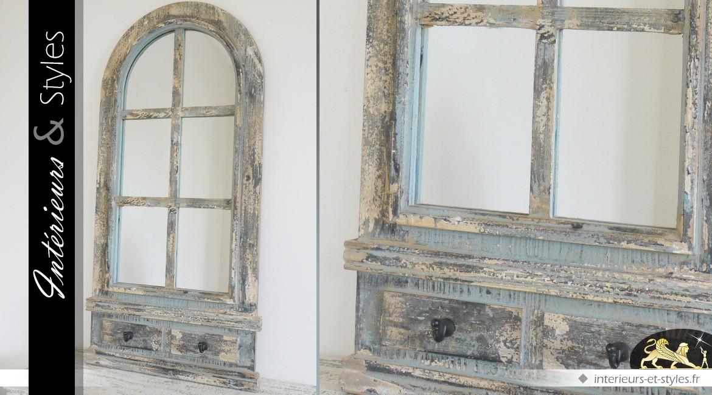 grand miroir mural rectangulaire en bois flott 102 cm int rieurs styles. Black Bedroom Furniture Sets. Home Design Ideas