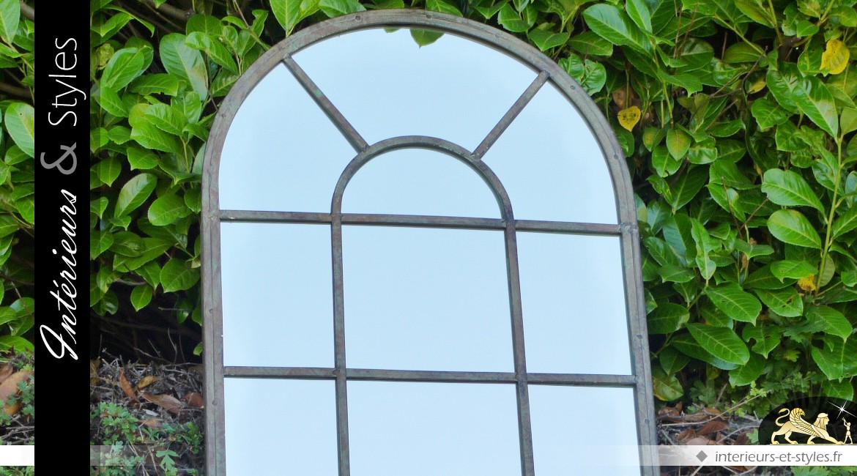 Grand miroir mural en forme de fen tre en arcade int rieurs styles for Miroirs grandes dimensions