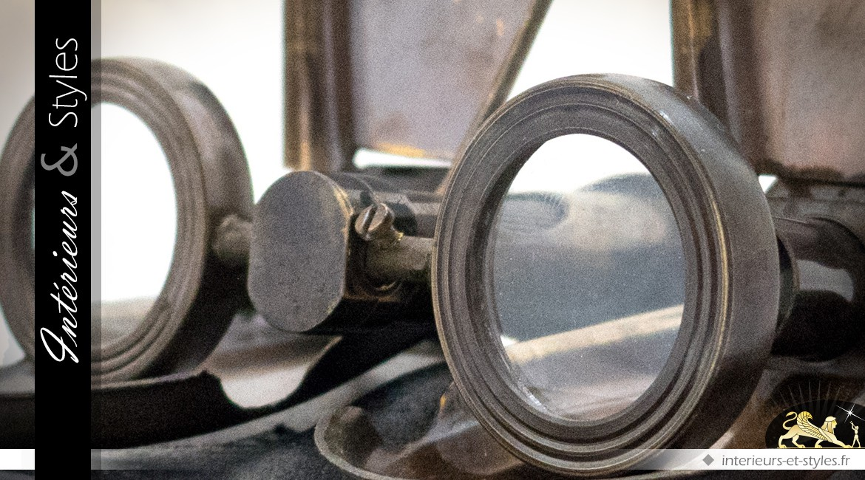 Jumelles pliables Royal Navy en métal avec étui