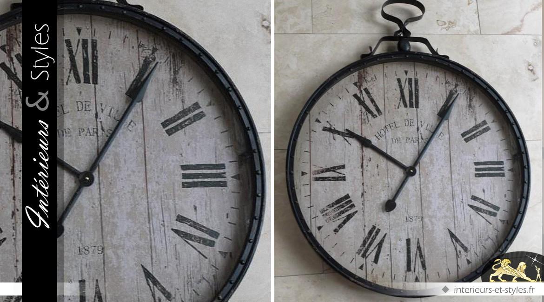 Horloge murale ancienne Ville de Paris (103 cm)