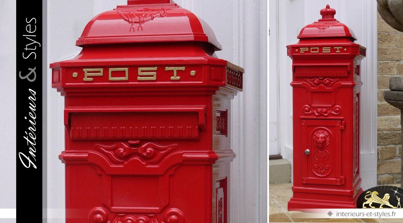 Boîte Aux Lettres Anglaise Colonne Rouge Intérieurs Styles
