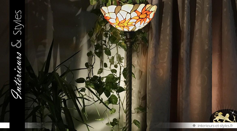 Grand lampadaire Tiffany : Ensoleille toi 198 cm