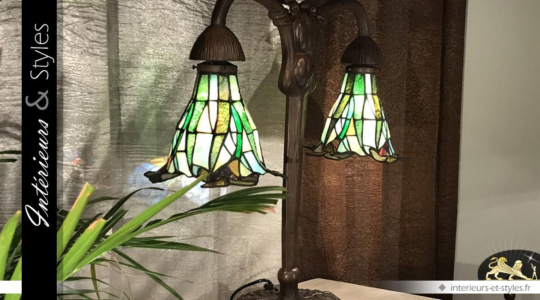 Petite lampe Tiffany : Lueur sacrée