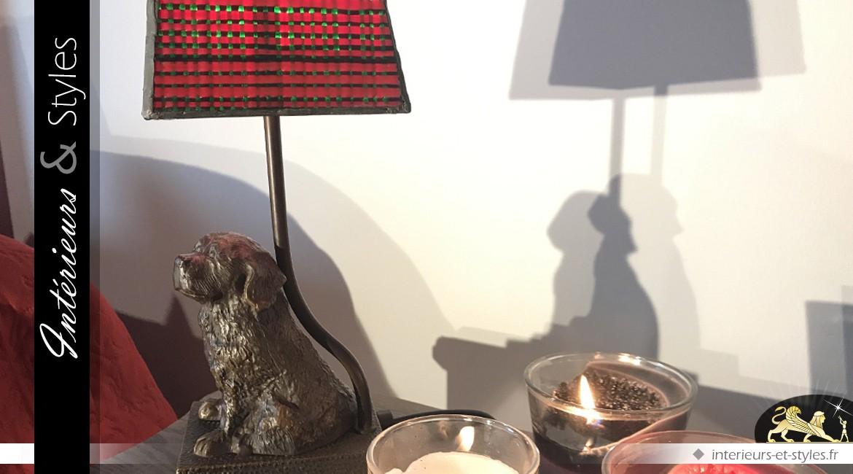 Petite lampe Tiffany à poser Sabaka