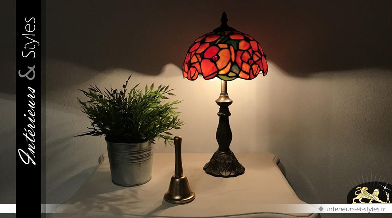 Petite lampe Tiffany les pavots