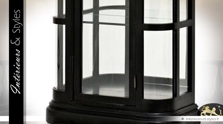 Vitrine kiosque finition noire style anglais avec 5 niveaux d'exposition 238 cm