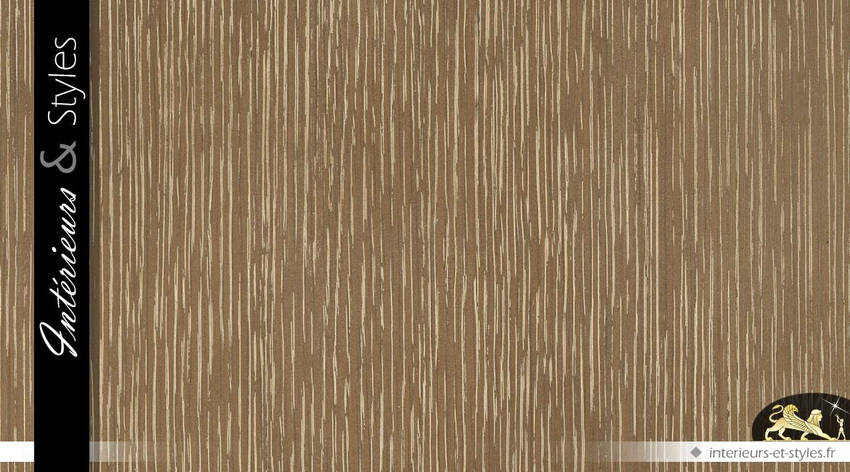 Enfilade effets géométriques en relief finition chêne délavé et laiton brossé 181 cm
