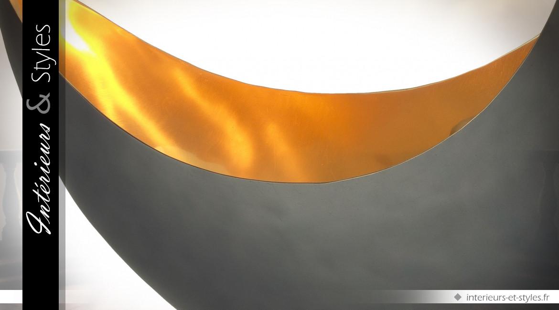 Lampe de table Demi-Lune Eichholtz en laiton et granite 53 cm