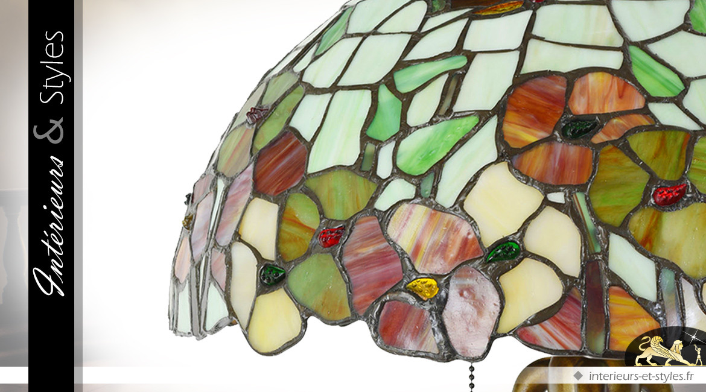 Lampe de salon de style Tiffany Fraîcheur Printanière Ø 40 cm 63 cm