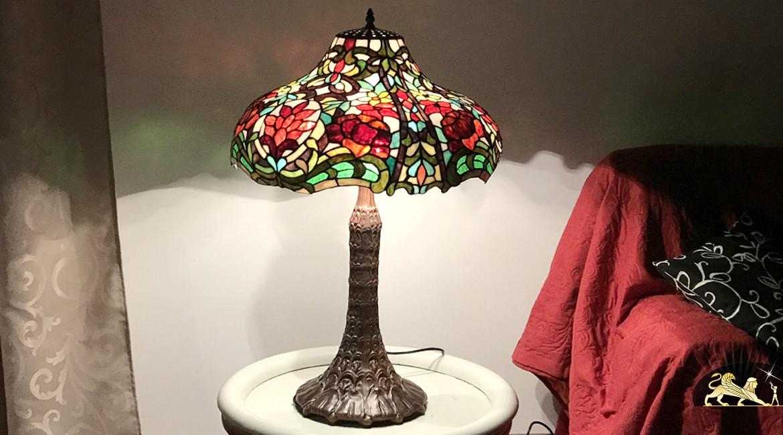Lampe de salon Tiffany : Lueur du soleil levant - Ø50cm