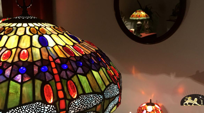 Suspension de prestige Tiffany : Les Libellules - Ø59cm