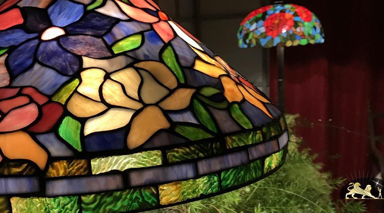 Lampe de salon Tiffany : Matin de printemps - Ø50cm