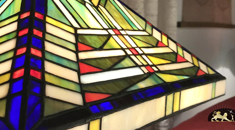 Lampe de salon Tiffany : Géométrie variable - Ø57cm