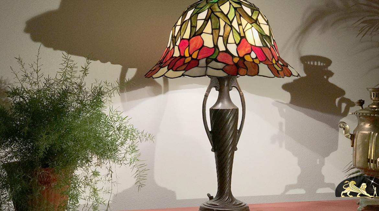 Lampe de salon Tiffany : Sentier de Provence - Ø48cm