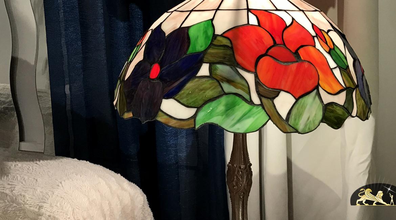 Grande lampe de salon Tiffany : Rosée du matin - Ø51cm